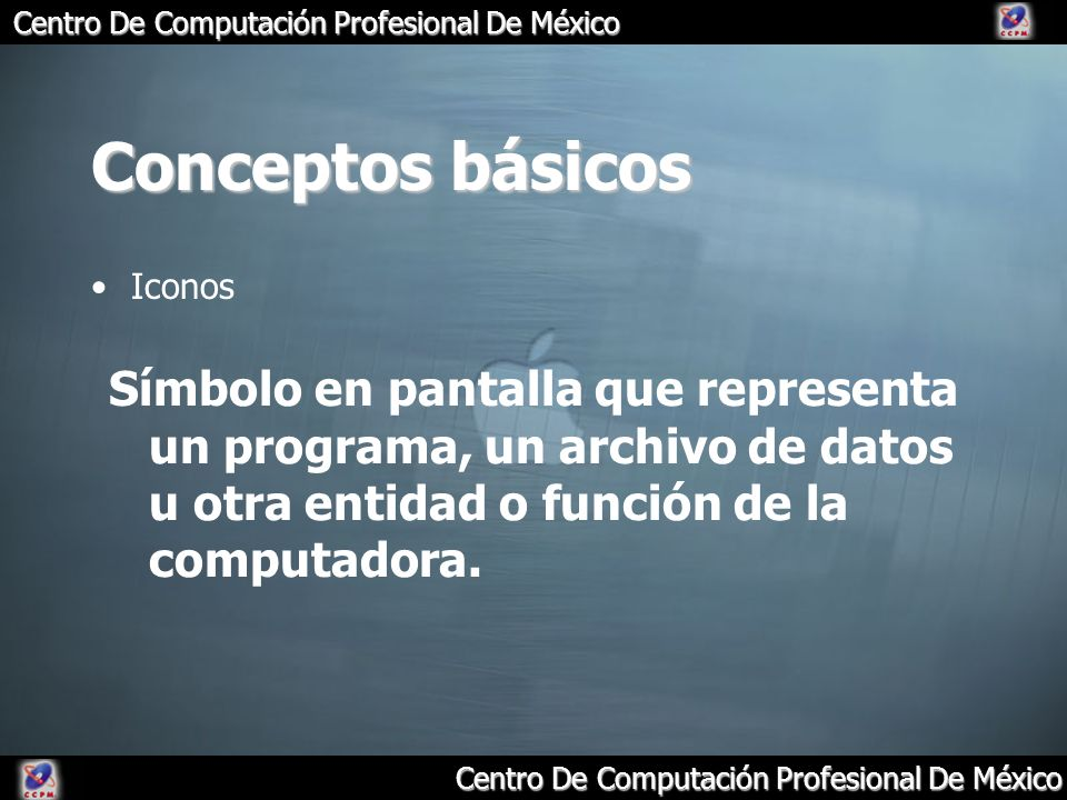Conceptos básicos Iconos.