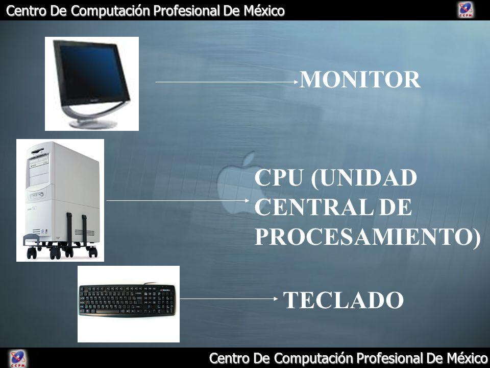 MONITOR CPU (UNIDAD CENTRAL DE PROCESAMIENTO) TECLADO