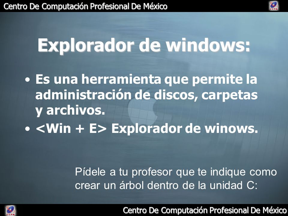 Explorador de windows: