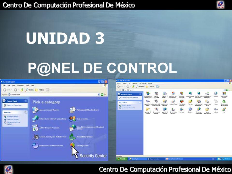 UNIDAD 3 P@NEL DE CONTROL