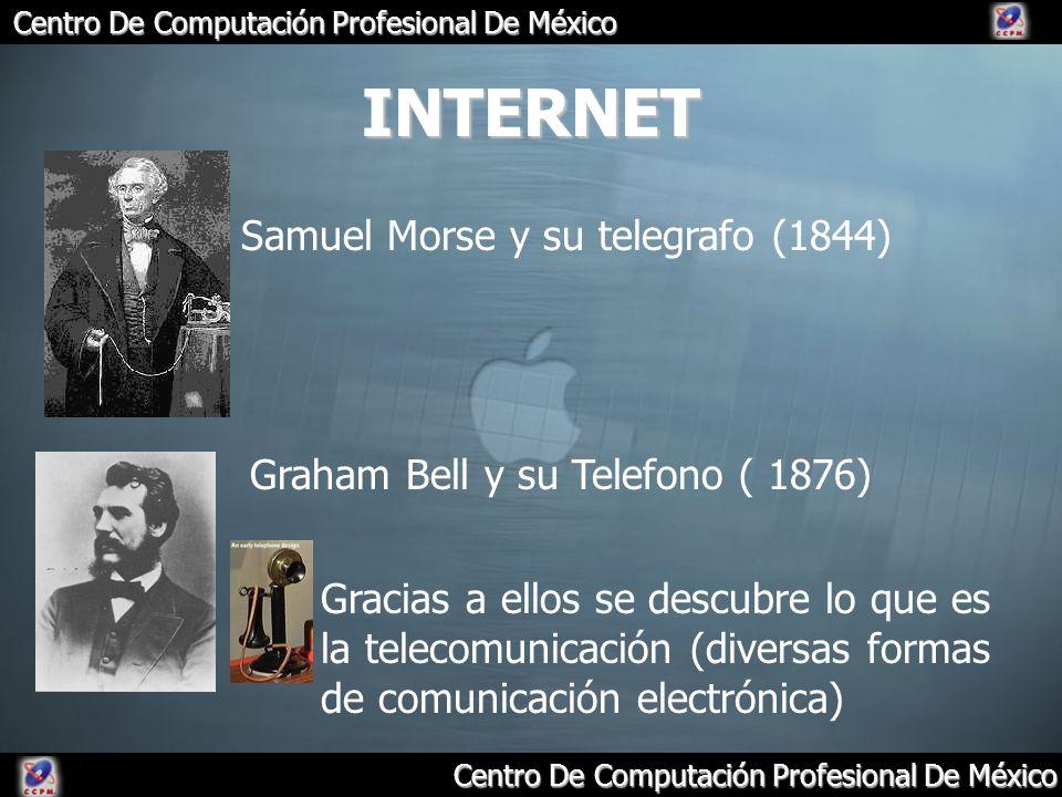 INTERNET Samuel Morse y su telegrafo (1844)