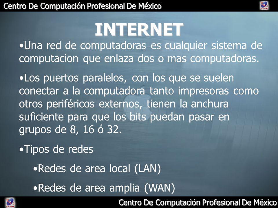 INTERNET Una red de computadoras es cualquier sistema de computacion que enlaza dos o mas computadoras.