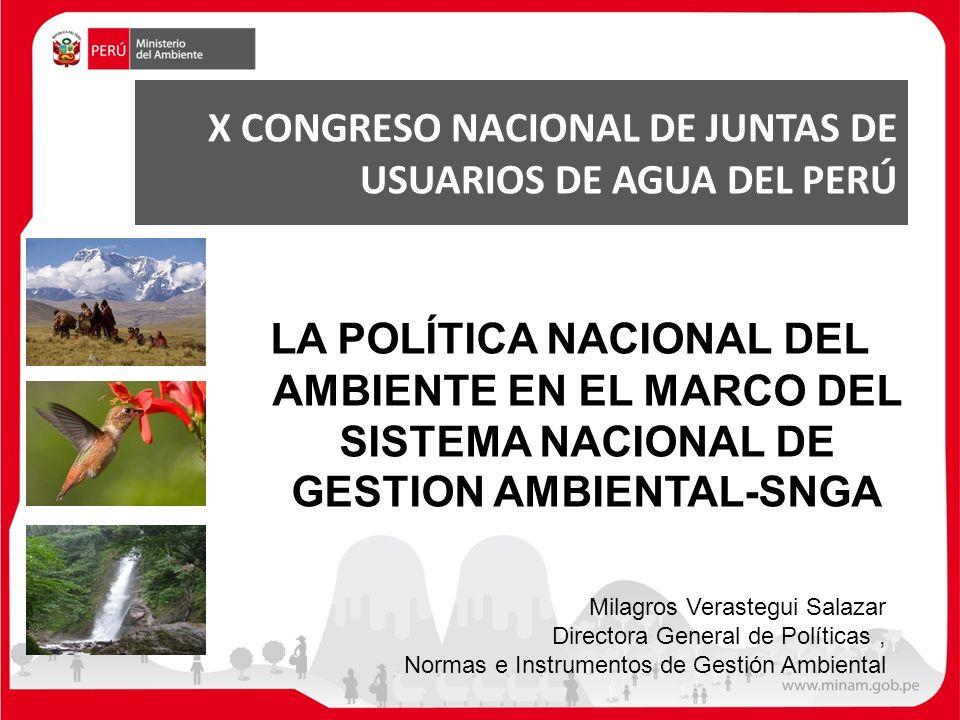 X CONGRESO NACIONAL DE JUNTAS DE USUARIOS DE AGUA DEL PERÚ