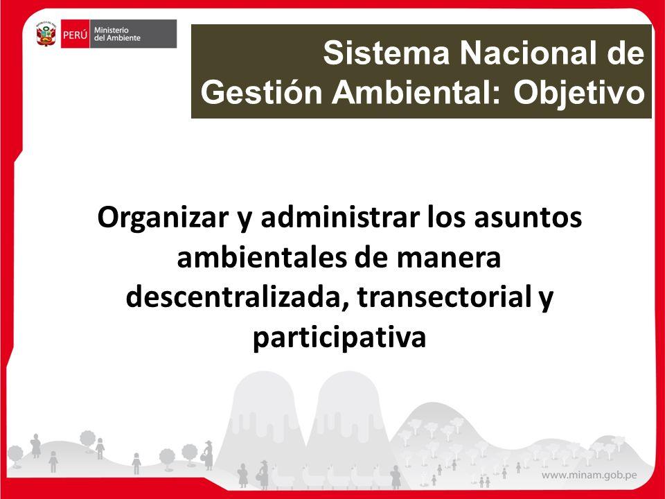 Sistema Nacional de Gestión Ambiental: Objetivo
