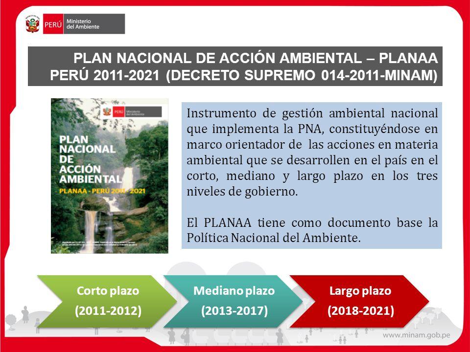 PLAN NACIONAL DE ACCIÓN AMBIENTAL – PLANAA PERÚ 2011-2021 (DECRETO SUPREMO 014-2011-MINAM)