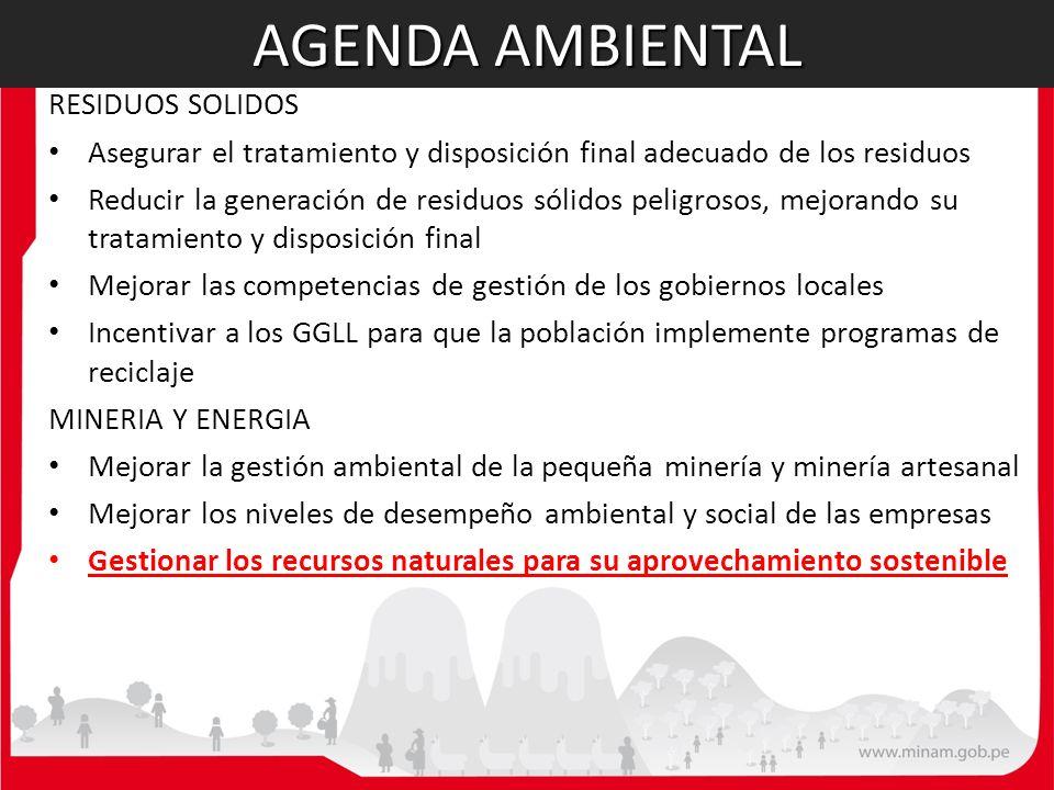 AGENDA AMBIENTAL RESIDUOS SOLIDOS