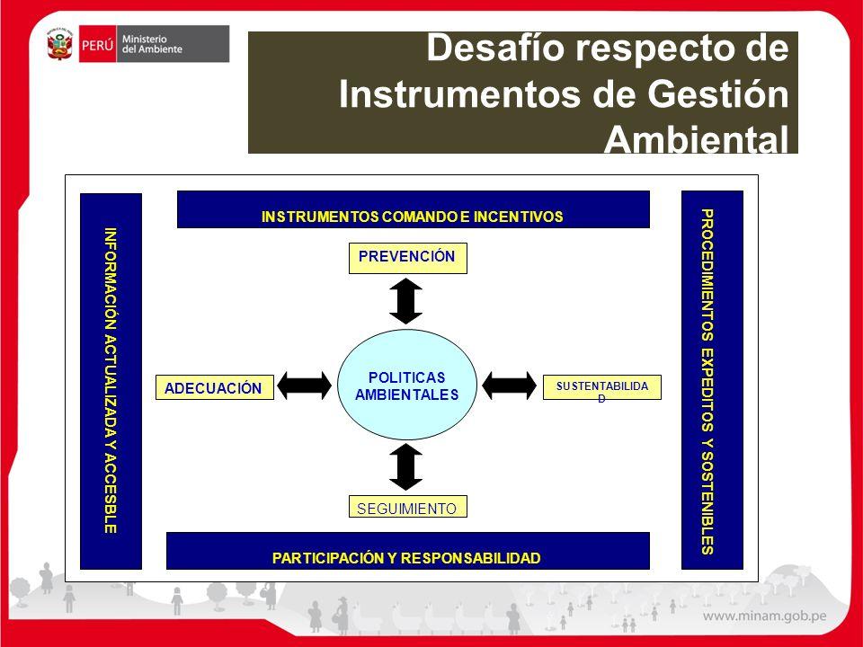 Desafío respecto de Instrumentos de Gestión Ambiental