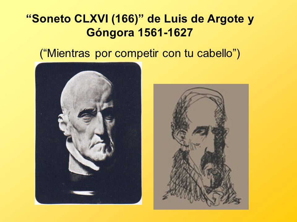 Soneto CLXVI (166) de Luis de Argote y Góngora 1561-1627
