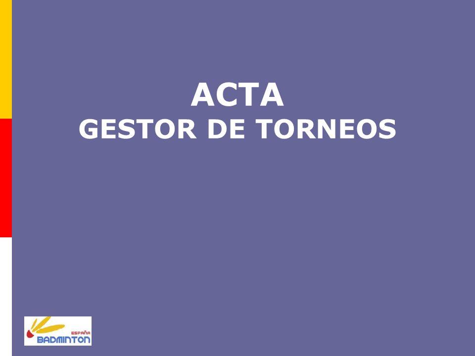 ACTA GESTOR DE TORNEOS