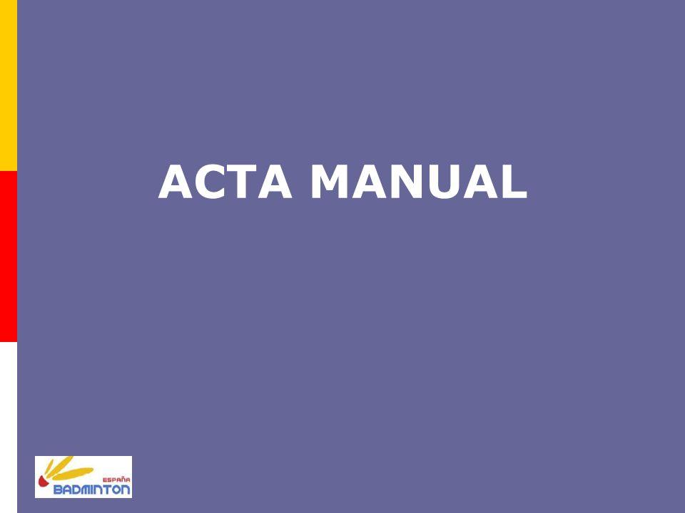 ACTA MANUAL