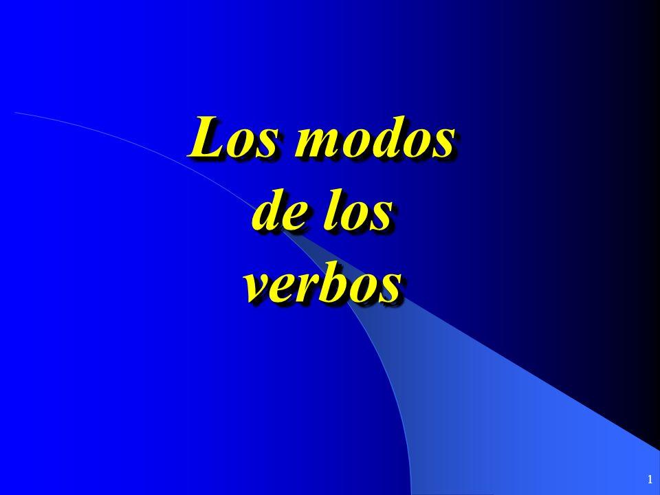 Los modos de los verbos