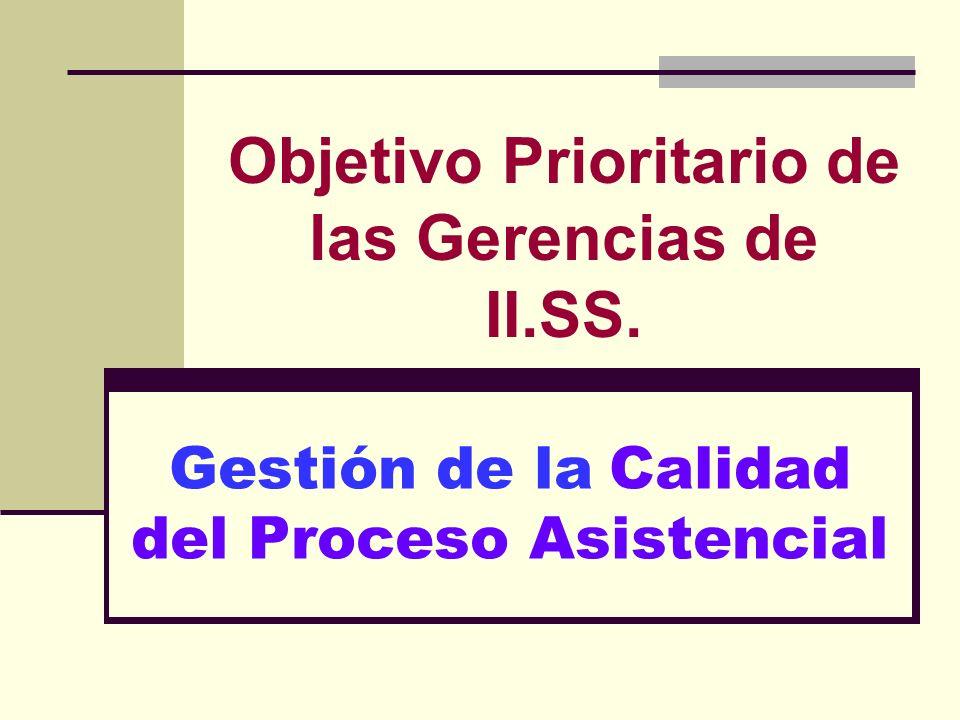 Objetivo Prioritario de las Gerencias de II.SS.
