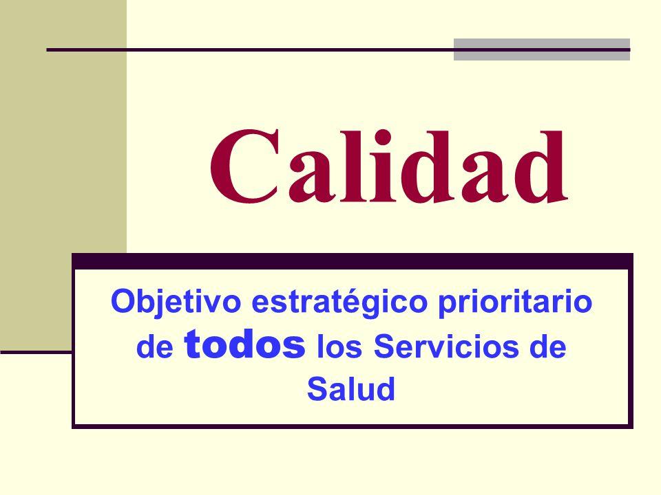 Objetivo estratégico prioritario de todos los Servicios de Salud