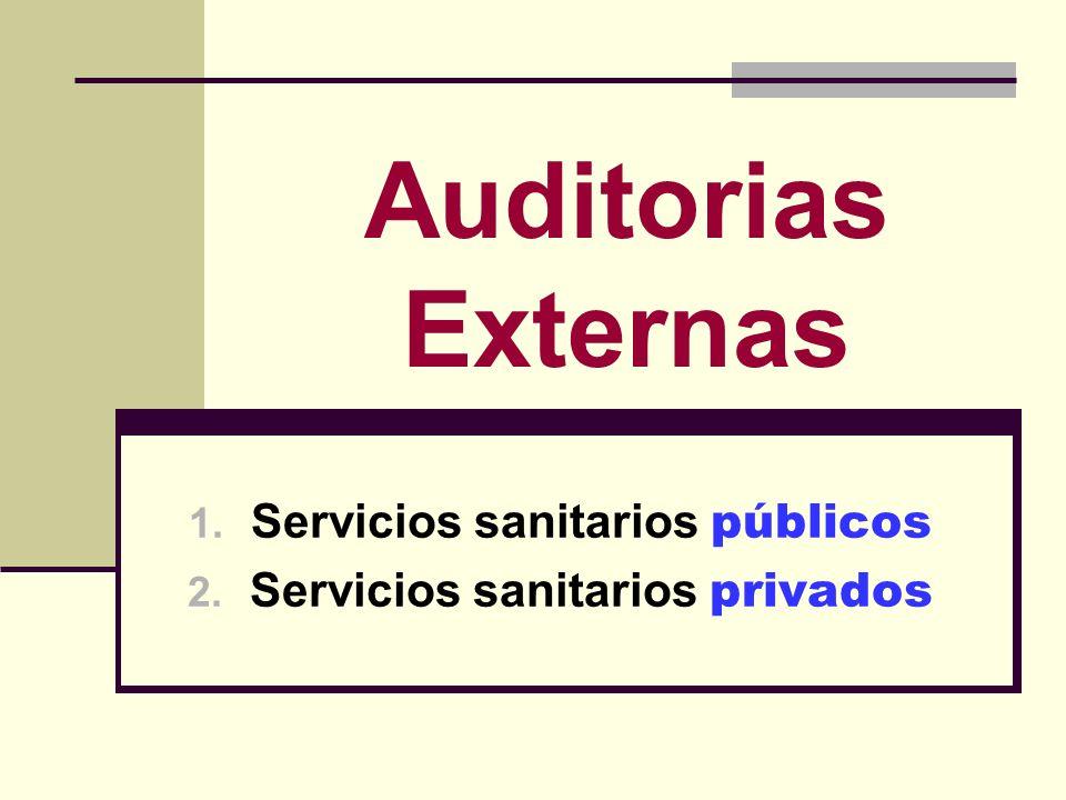 Servicios sanitarios públicos Servicios sanitarios privados
