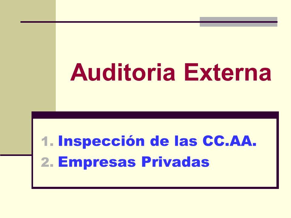 Inspección de las CC.AA. Empresas Privadas