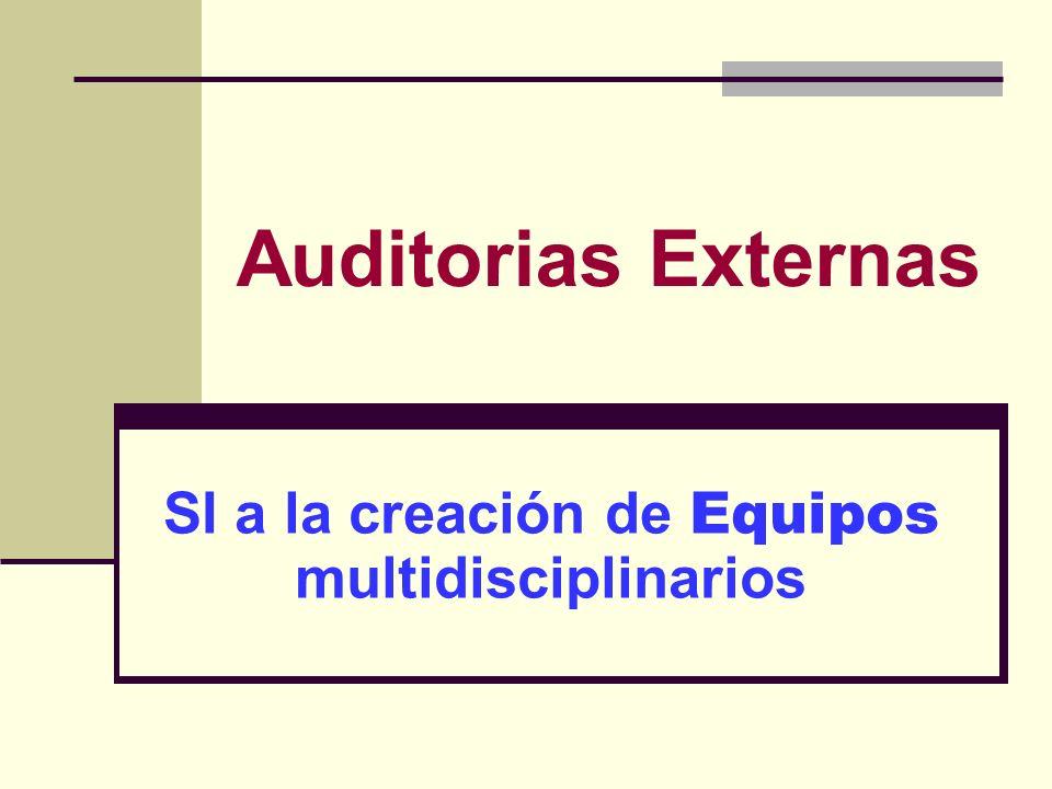 SI a la creación de Equipos multidisciplinarios
