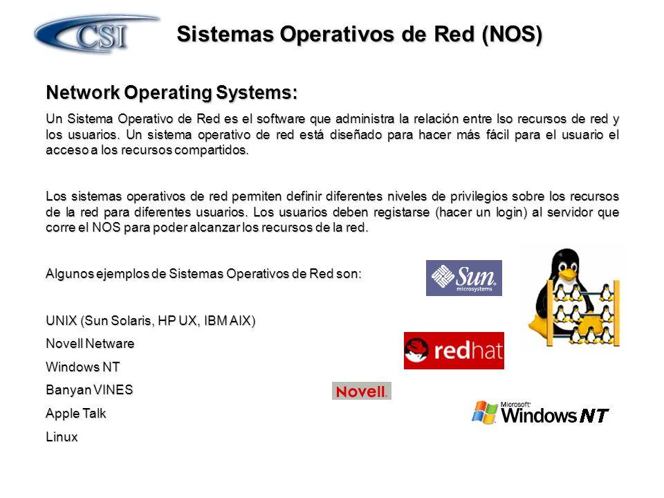 Sistemas Operativos de Red (NOS)