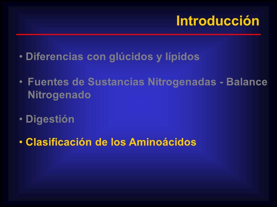 Introducción Diferencias con glúcidos y lípidos