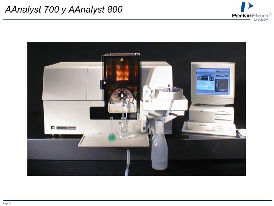 AAnalyst 700 y AAnalyst 800 AAnalyst 700 in flame operation