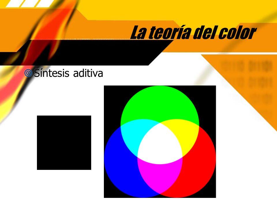 La teoría del color Síntesis aditiva