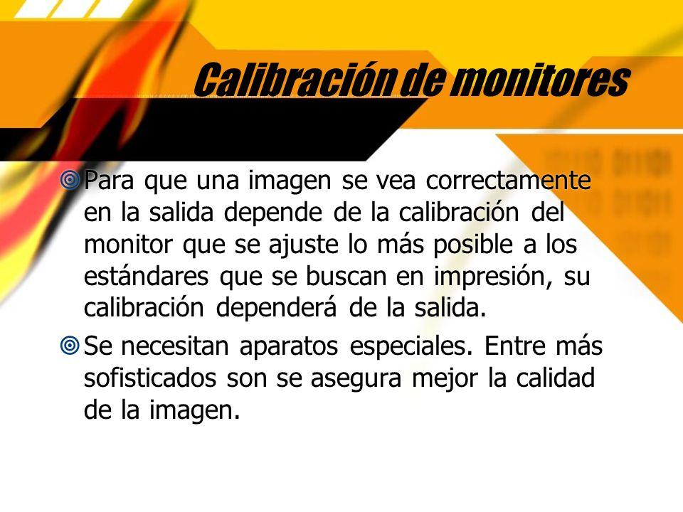 Calibración de monitores