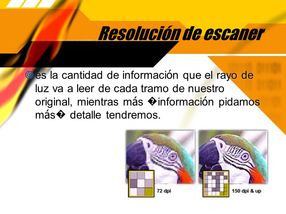 Resolución de escaner