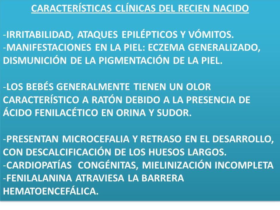 CARACTERÍSTICAS CLÍNICAS DEL RECIEN NACIDO