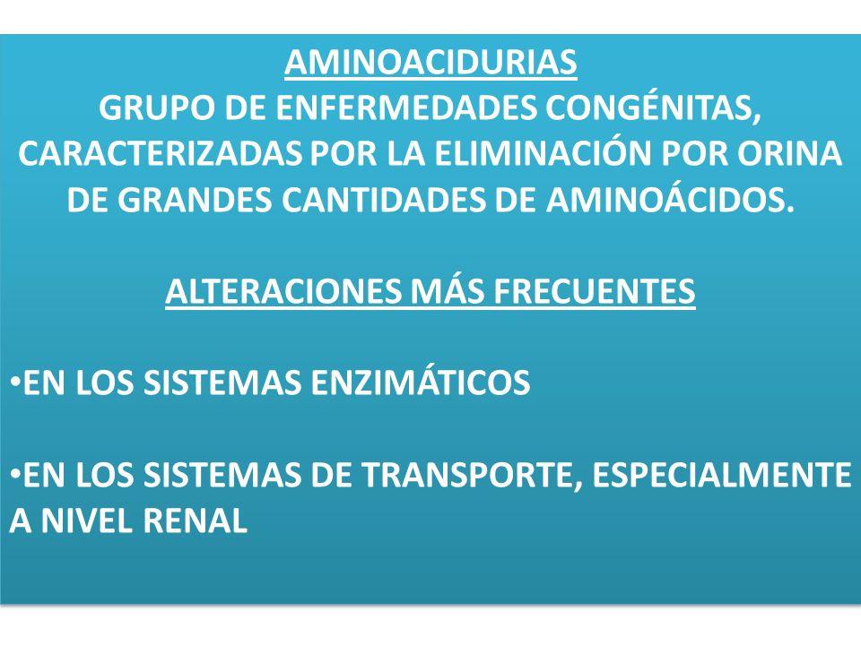 ALTERACIONES MÁS FRECUENTES