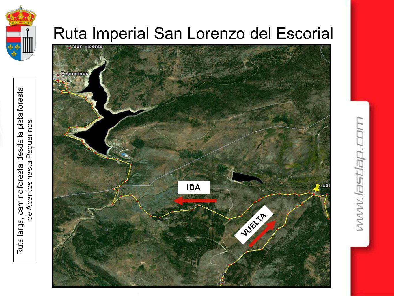 Ruta larga, camino forestal desde la pista forestal de Abantos hasta Peguerinos
