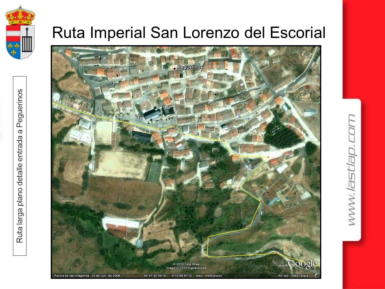 Ruta larga plano detalle entrada a Peguerinos