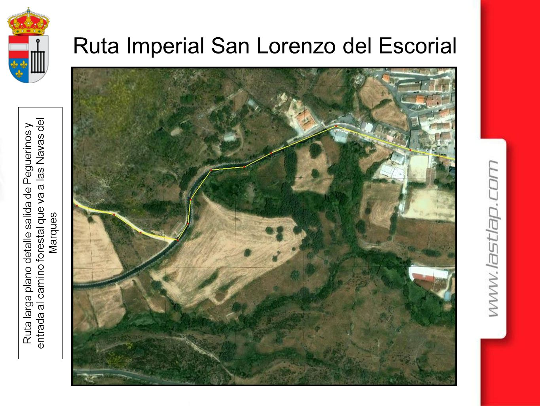 Ruta larga plano detalle salida de Peguerinos y entrada al camino forestal que va a las Navas del Marques