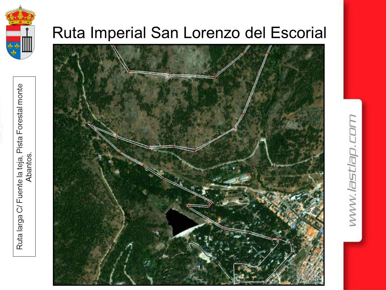 Ruta larga C/ Fuente la teja, Pista Forestal monte Abantos.
