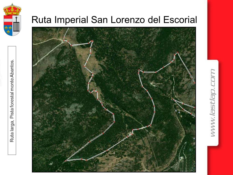Ruta larga, Pista forestal monte Abantos.