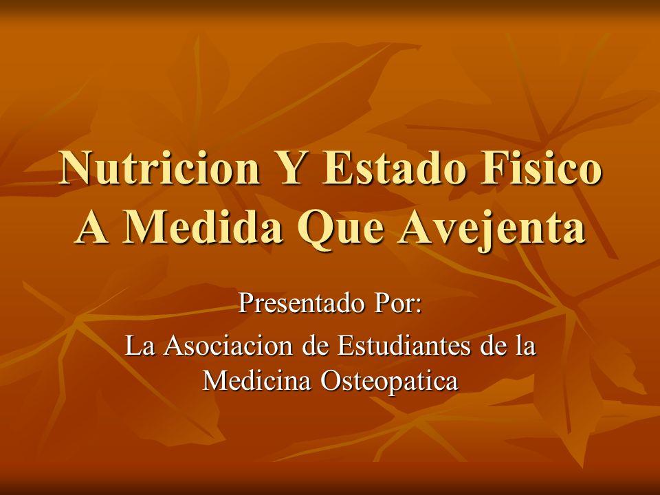 Nutricion Y Estado Fisico A Medida Que Avejenta
