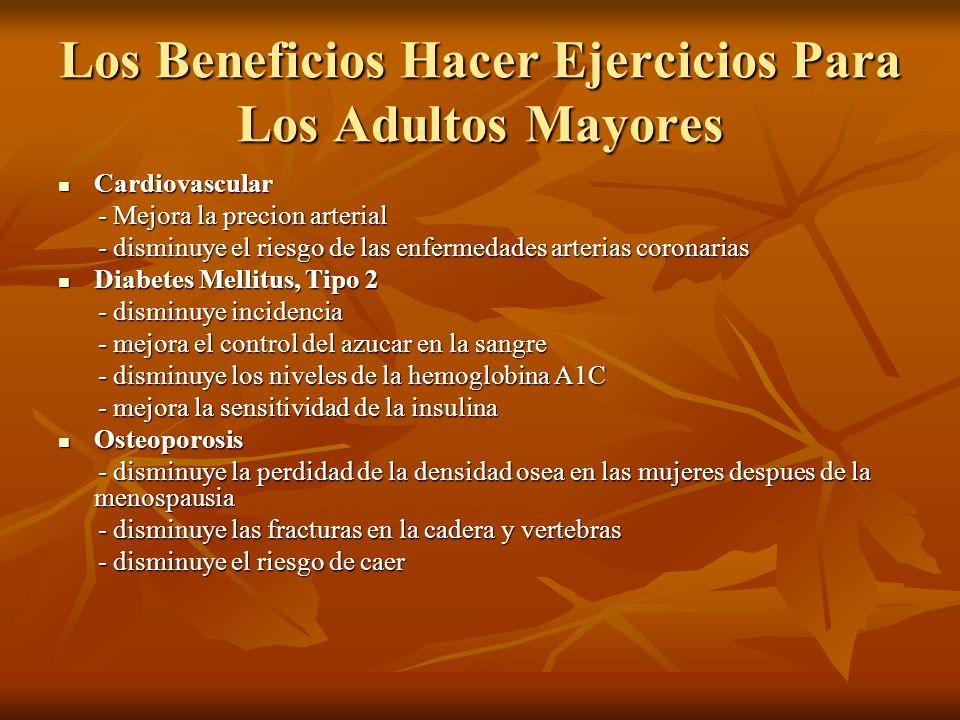 Los Beneficios Hacer Ejercicios Para Los Adultos Mayores