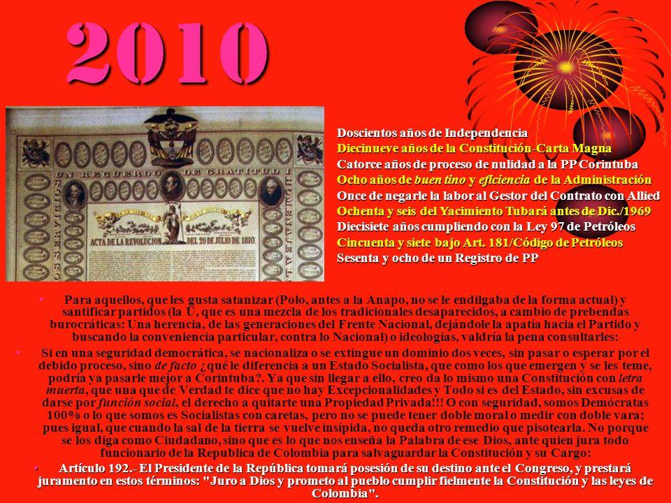 2010 Doscientos años de Independencia