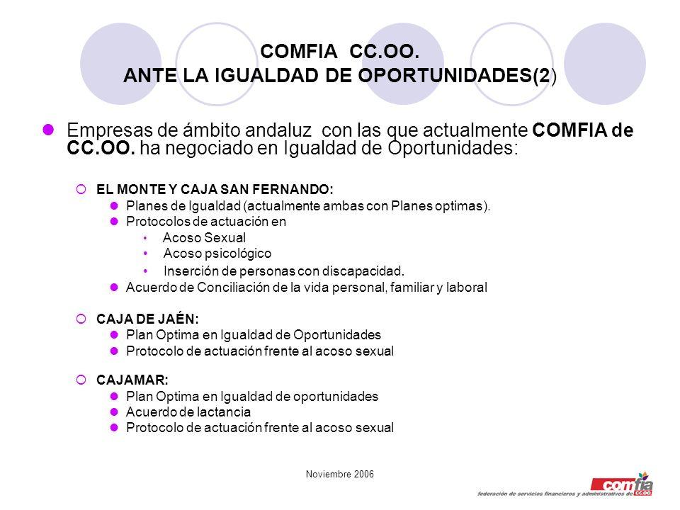 COMFIA CC.OO. ANTE LA IGUALDAD DE OPORTUNIDADES(2)