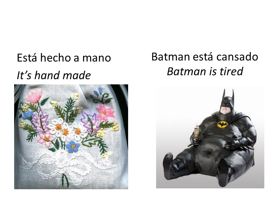 Batman está cansado Batman is tired
