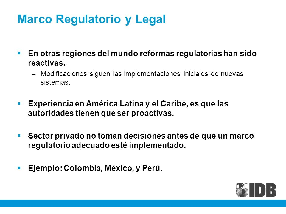 Marco Regulatorio y Legal