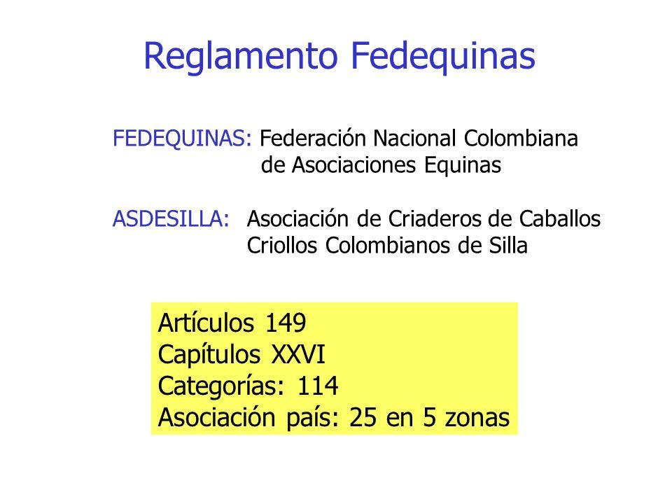 Reglamento Fedequinas