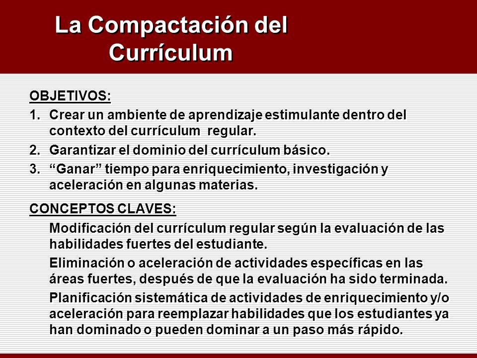 La Compactación del Currículum