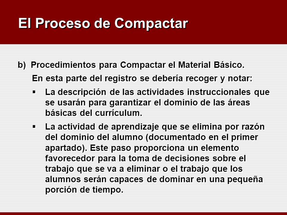 El Proceso de Compactar