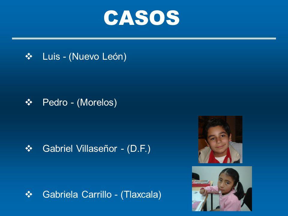 CASOS Luis - (Nuevo León) Pedro - (Morelos)