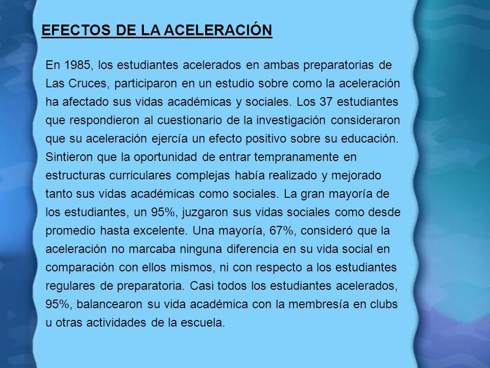 EFECTOS DE LA ACELERACIÓN
