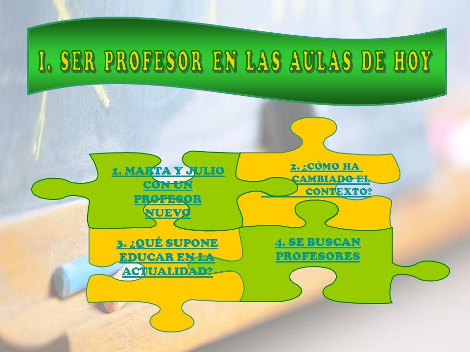 I. SER PROFESOR EN LAS AULAS DE HOY