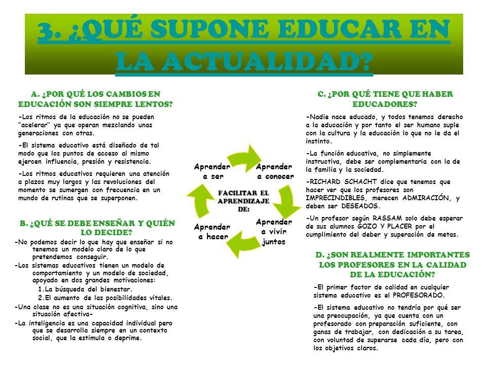 3. ¿QUÉ SUPONE EDUCAR EN LA ACTUALIDAD