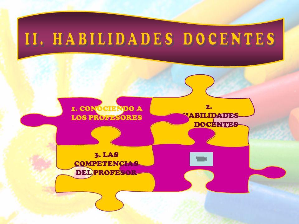 II. HABILIDADES DOCENTES