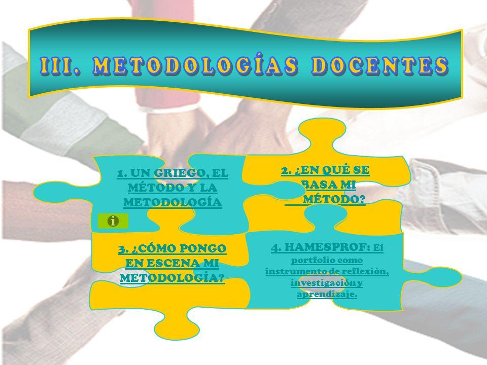 III. METODOLOGÍAS DOCENTES