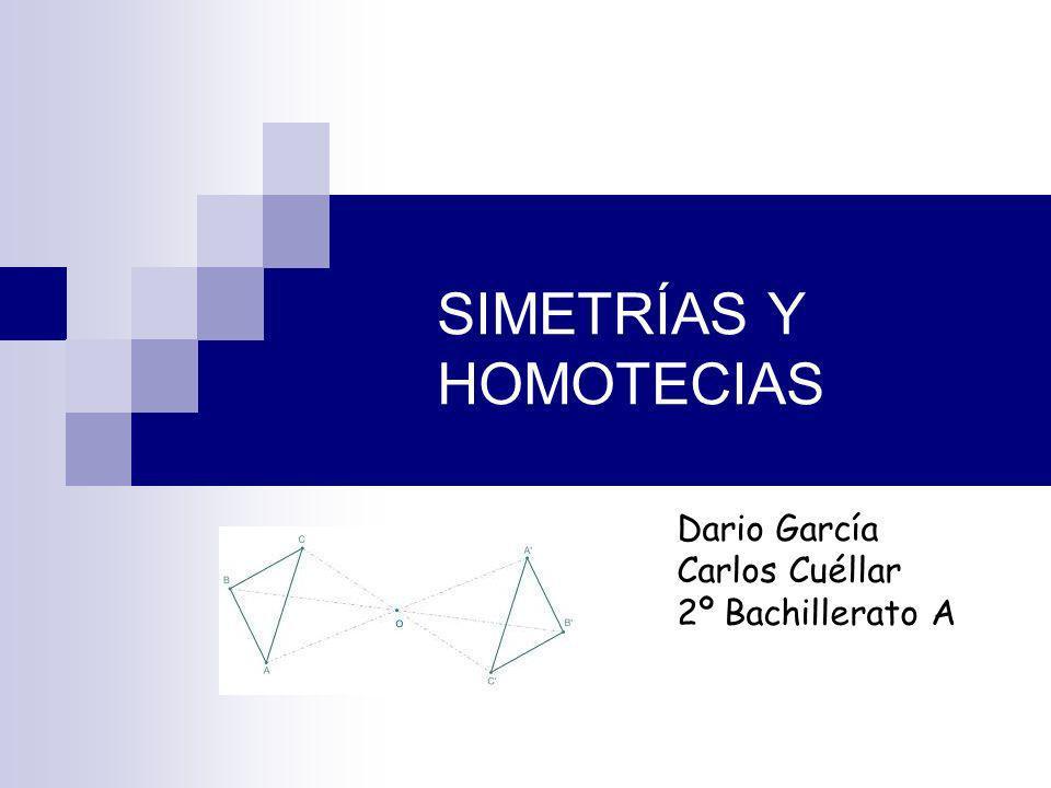 SIMETRÍAS Y HOMOTECIAS
