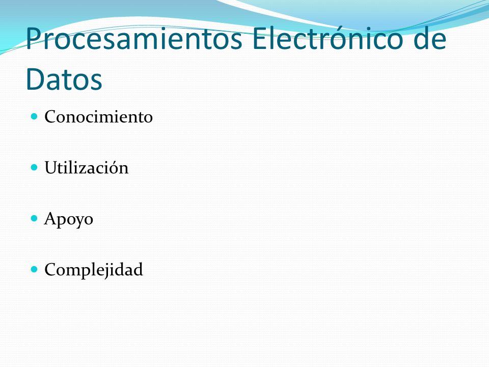 Procesamientos Electrónico de Datos